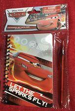 Disney Pixar Cars Lightning McQueen Stationary Journal W/ Pen Writing Notebook