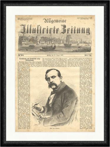 Karl von Enhuber Hof München Bayerischer Maler Genre Pinsel  Faksimile/_E 6475