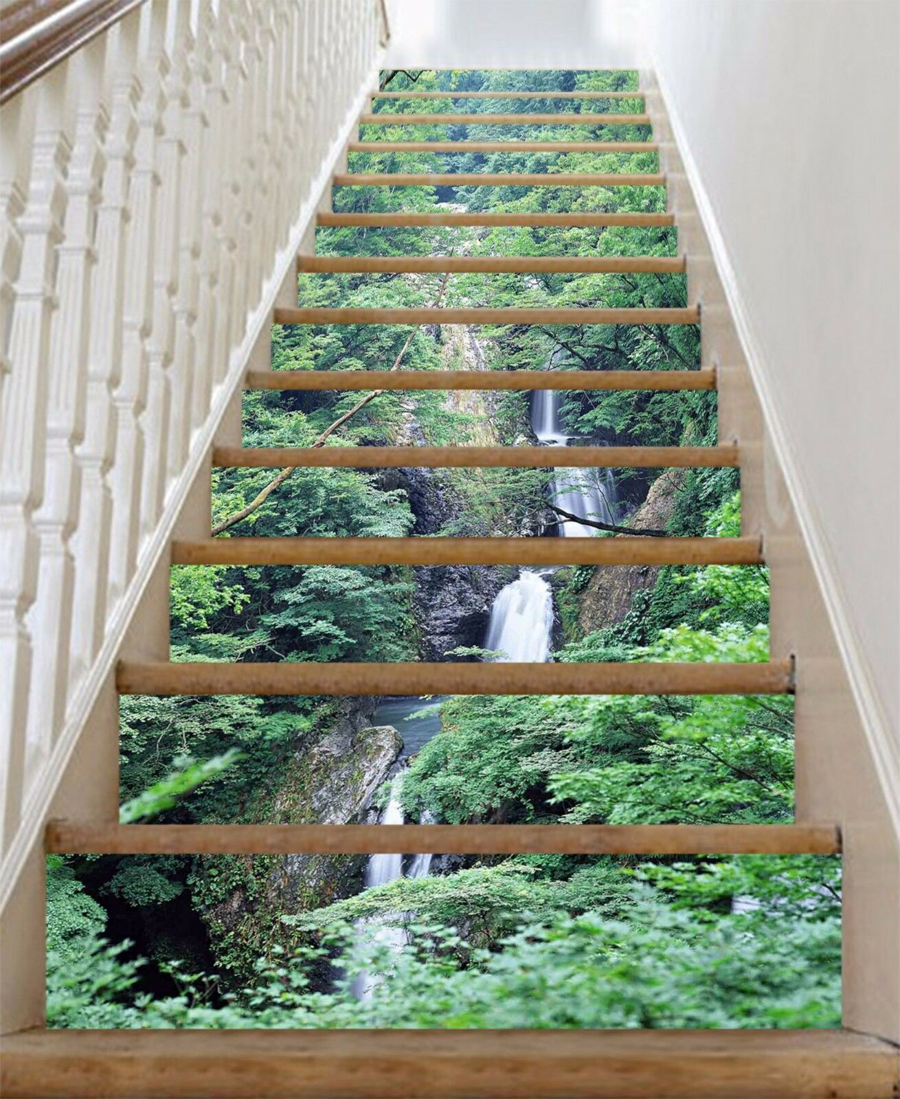 3D Dense Forest 753 Stair Risers Decoration Photo Mural Vinyl Decal WandPapier AU