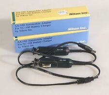NIKON AA-100 AUTO ADAPTER FOR NC-100 BATTERY CHARGER , SET OF 2, NEW