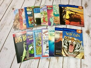 Lot-of-16-Early-Readers-Children-039-s-Books-Leveled-I-Can-Read-Step-Into-Reading