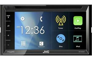 JVC-KW-V820BT-RB-DVD-CD-Player-6-8-034-LCD-Apple-CarPlay-Bluetooth-Pandora-SiriusXM