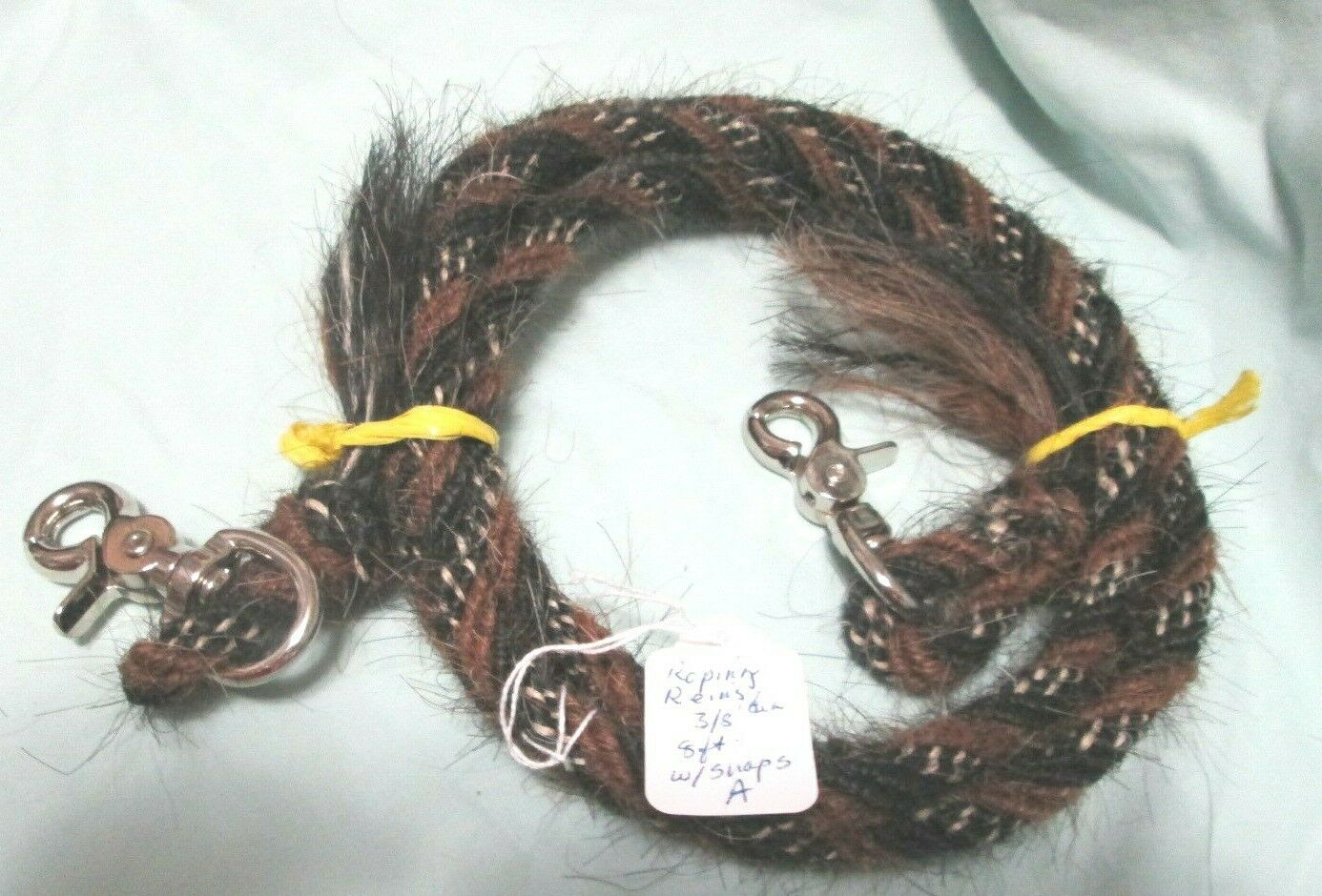 uomoe cavallo Hair Roping Reins 8 feet 38 diameter, Pattern A with snaps