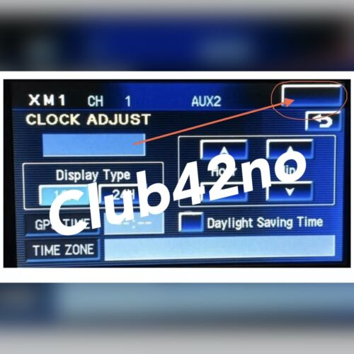 Corvette C6 Clock Fix GM OEM NAV Navigation 2005 2006 2007 2008 2009 2010