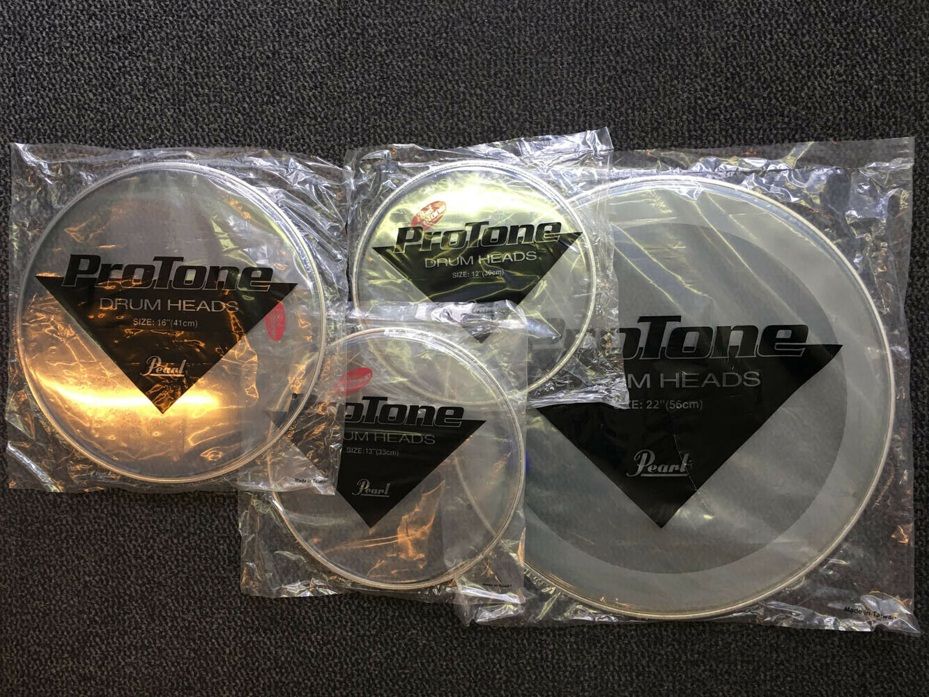 PEARL Drumhead Set    Rock Double Ply