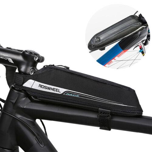Bicycle Top Frame Bag Slim Storage Pouch Saddle Bags MTB Road Bike Tube Pannier