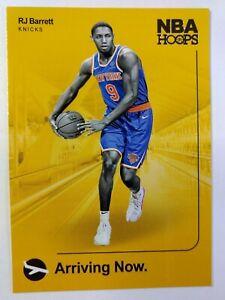 2019-20 Panini NBA Hoops Arriving Now RJ Barrett Rookie RC #4, New York Knicks