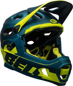 Bell-Super-DH-MIPS-Full-Face-Bike-Helmet-Matte-Gloss-Blue-Hi-Viz