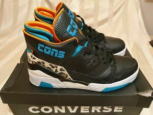 Vintage-80s-Style-Converse-Cons-ERX-260-Basketball-Shoes-Animal-Mid-Black-Sz-10