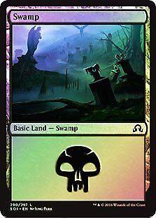 Swamp FOIL Shadows over Innistrad PLD-SP Basic Land MAGIC CARD ABUGames 290