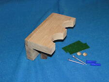 2 gun wood closet gun rack - solid oak construction