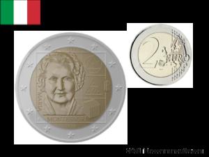 2-Euros-Commemorative-Italie-2020-Montessori-UNC