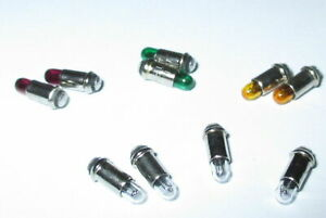 Micro-Ampoules-2-8x4mm-Transparent-Rouge-Vert-Jaune-10-Pieces-Nouveau