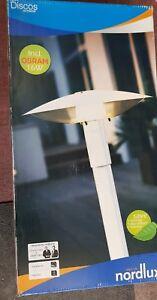 Nordlux-Discos-Outdoor-Gartenlampe-Standleuchte-weiss-incl-16Watt-Osram