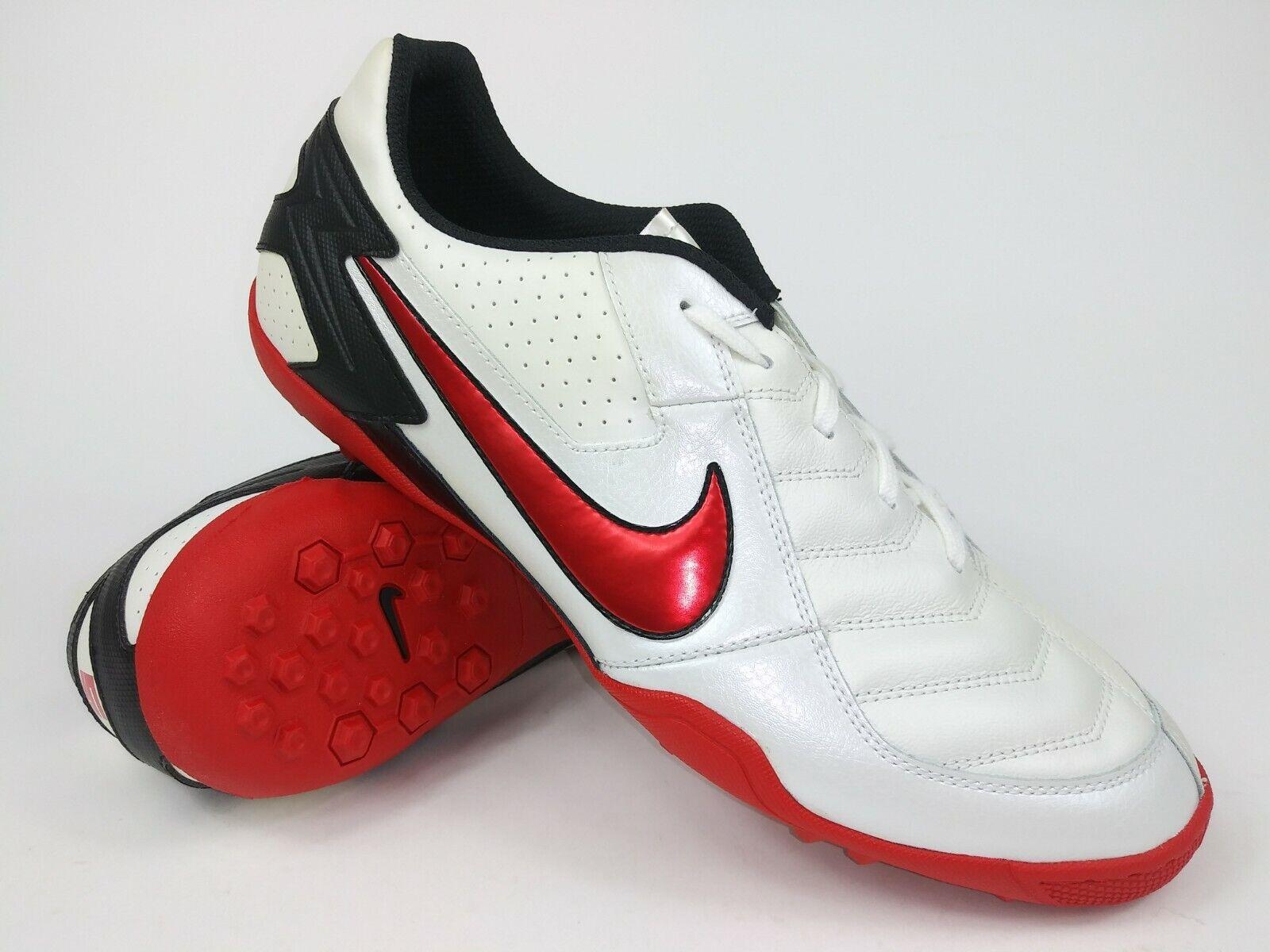 Nike Hombre Raro Nike 5 T-3 Compacto Roscada Horquilla 344938-161 blancoo Rojo botas Zapatos Botines De Fútbol