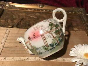 Vintage-Asian-Porcelain-Multi-Color-Teapot-Planter-NO-LID-7-1-4-034-x4-3-8-034