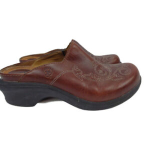 Ariat-Women-039-s-Stitched-Embroidered-Leather-Mules-Clogs-Brown-EU-36-5-US-6-5B