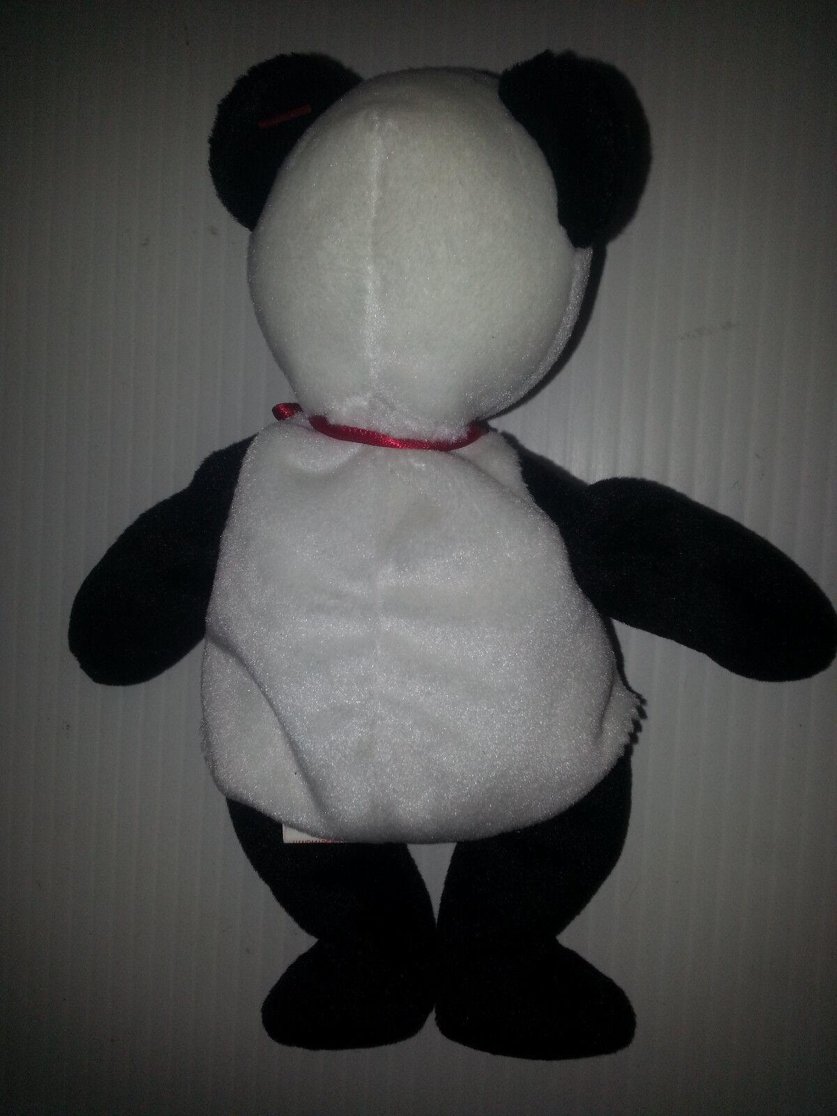 ... New Rare TY Beanie Baby Baby Beanie FORTUNE Panda Bear Retired 1997  Tush Errors Mistakes 50cb5b ... 92e3e8a1d9ca