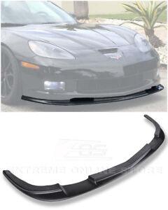 For 05-13 Corvette C6 Base Model Front Lip Kit ZR1 Style Splitter Bumper ABS