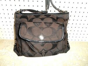 Jacquard Coach Handtas F16550 Brown Kyra Signature Crossbody schoudertas IDEH29