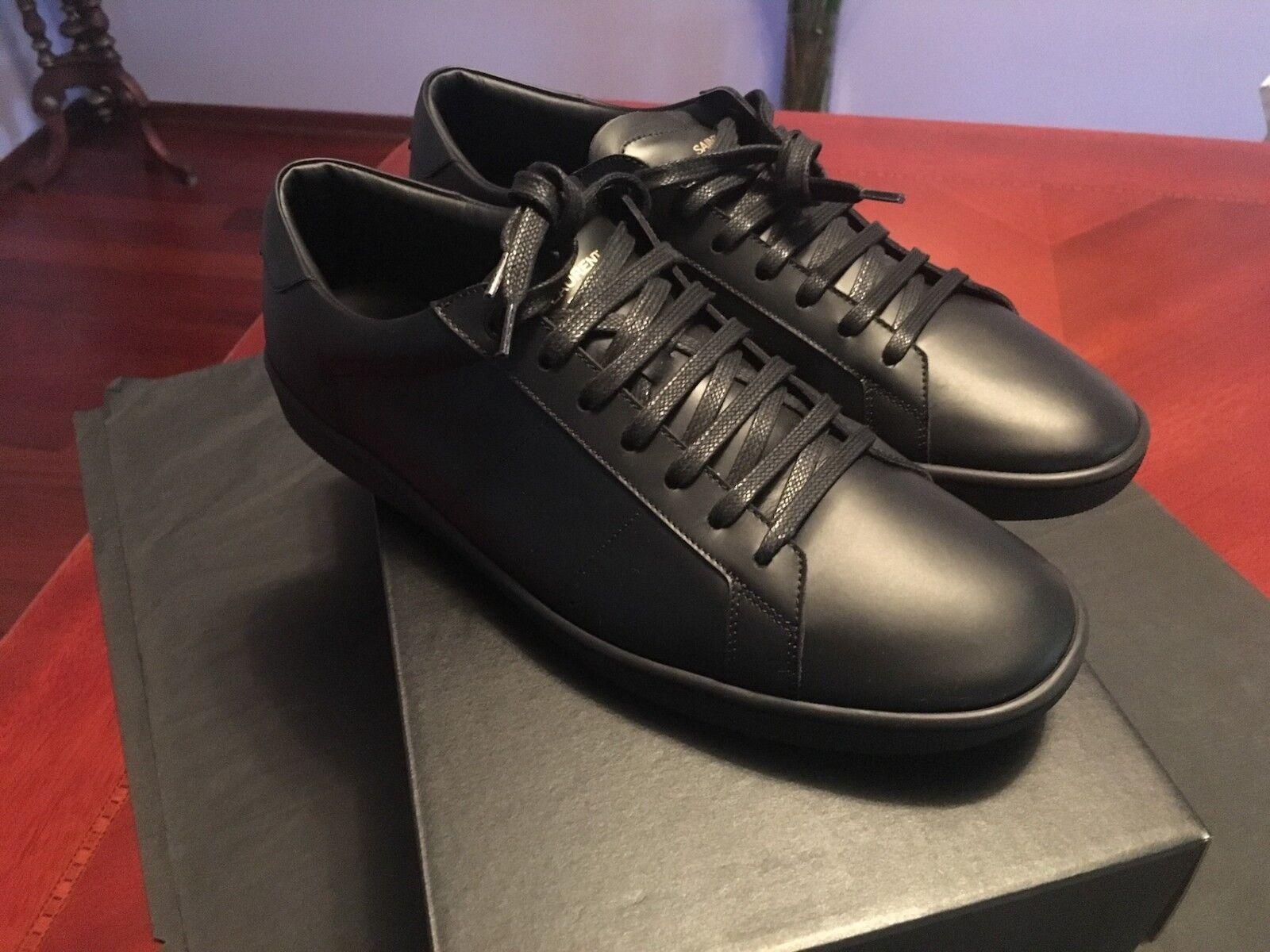 Scarpe casual da uomo  NIB SS'18 Saint Laurent SL01 Court Classic Sneakers, 45,5/US12,5