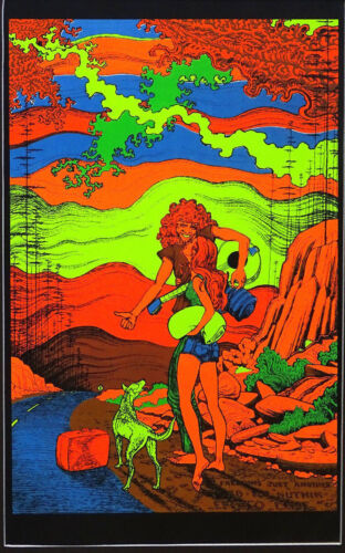 Choose from 60 different Psychedelic Blacklight Poster reproductions 1960/'s-70/'s