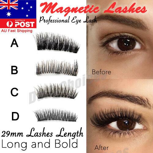 74ad2a26d5 2 Pairs Magnetic Eyelashes 3d Handmade Mink Reusable False Magnet Eye  Lashes Set for sale online   eBay