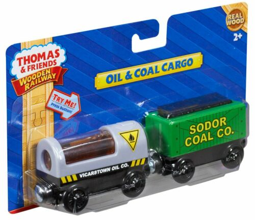 Needs Battery NEW Oil and Coal Cargo Thomas and Friends Wooden Railway