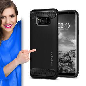 SPIGEN-Rugged-Armor-fuer-Samsung-Galaxy-S8-Schutzhuelle-Case-Cover-Handyhuelle-TOP