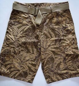 $$$ Levis Herren Cargo-shorts Grün Camouflage Mit Gürtel Ausgezeichnete (In) QualitäT