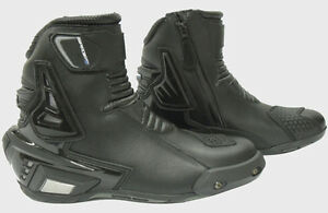 Spada-X-Street-Short-MOTORCYCLE-BOOTS-Sport-Road-Black