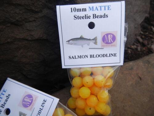 Mad River Fish perles saumon lignée MAT 10 mm Lot de 1