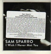 (CW363) Sam Sparro, I Wish I Never Met You - DJ CD