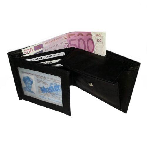 Men/'s Genuine Leather Purse Trifold Wallet Card Case Bag Men/'s Wallet