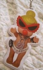 """New HYSTERIC MINI OFFICIAL """"Super baby"""" NAME TAG for Baby Bag japan limited rare"""