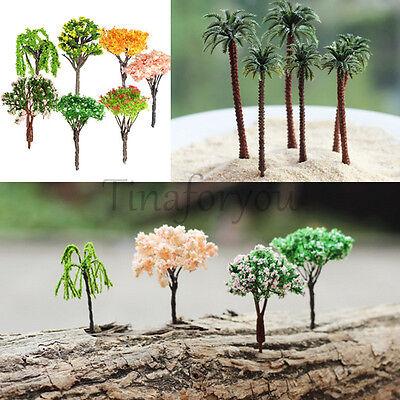 Xmas Sakura Tree Miniature Garden Decoration Pots Fairy Garden Ornament Decor