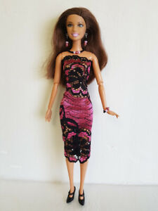 Fashionistas-Barbie-Clothes-Lace-DRESS-amp-JEWELRY-Model-Muse-Fashion-NO-DOLL-d4e