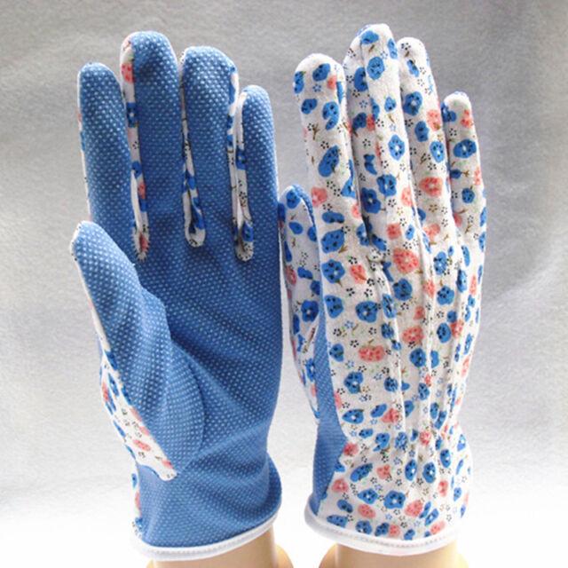 One Pair Garden Gloves Simple Useful Gardening Women Soft Jersey One Size 201_AU