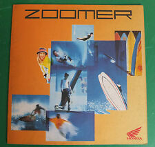 HONDA ZOOMER 50 SCOOTER MOTORE ADVERTISING PUBBLICITA DEPLIANT BROCHURE CATALOG