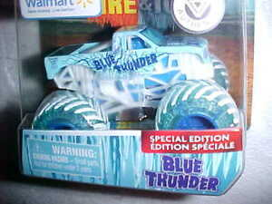 2019-SPIN-MASTER-MONSTER-JAM-FIIRE-amp-ICE-034-BLUE-THUNDER-034-SPECIAL-EDITION-VHTF-NEW