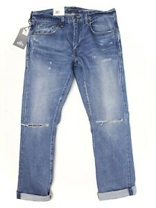 Levis-Made-amp-Crafted-511-Slim-Mens-Jeans-34x32-Distressed-Selvedge-Made-in-Japan
