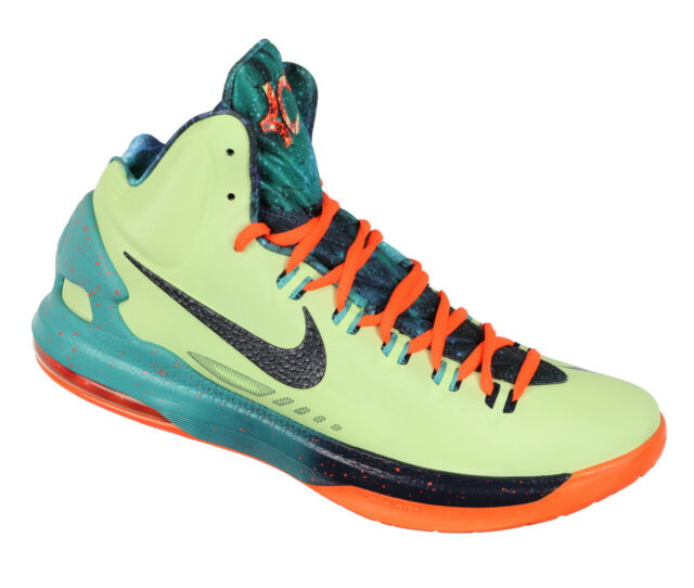 16a1be925559 NIKE KD V Basketball Shoes sz 11 Area 72 Edition Liquid Lime Crimson All  Star 5