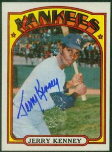 Original-Autograph-of-Jerry-Kenney-of-the-NY-Yankees-on-a-1972-Topps-Card