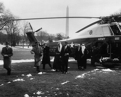 Kennedy departs White House aboard helicopter 1961 Photo Print President John F