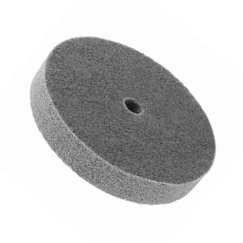 150mm Durchmesser Zylindrische Form Nylon Faser Polierrad Buffing Scheibe Grau