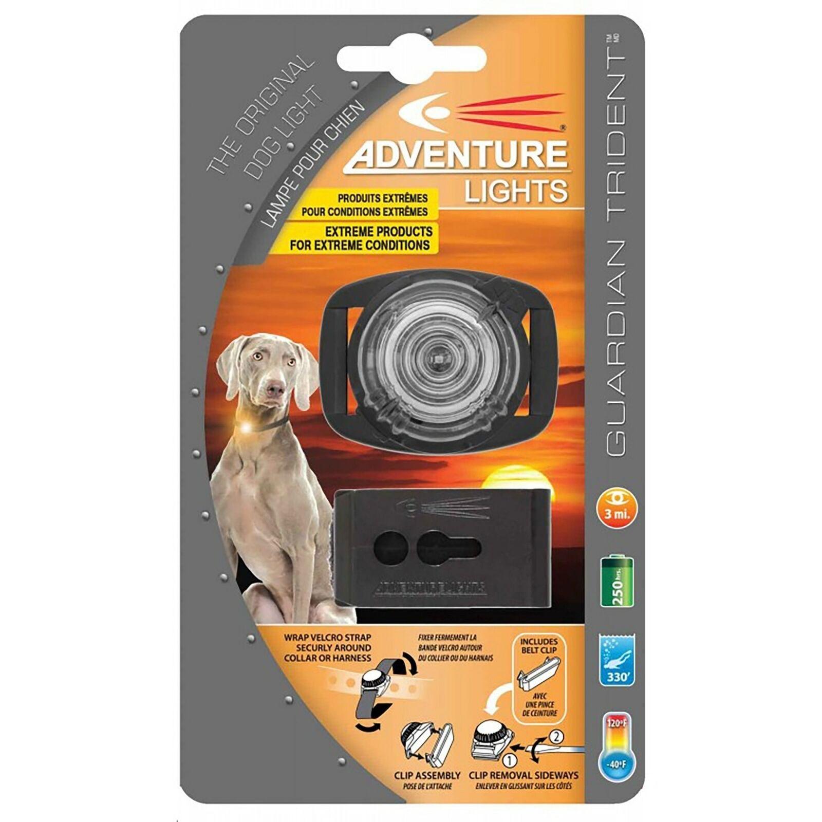 Adventure Lights Guardian Trident Dog Light Weiß Safety Collar Light (3-Pack)