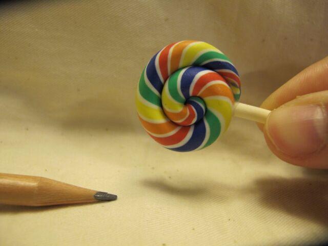 L006 Dollhouse fruit favor lollipop w/ stick Miniature Blythe Barbie Re-ment 1:6