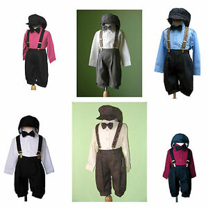 Boys-Infant-Toddler-Knickers-Vintage-Outfit-Set-Many-colors-Size-6-Month-to-4T
