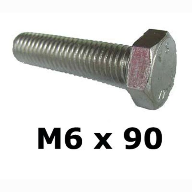 M6 x 90 Stainless Steel Hex Bolts / Set Screws 6mm x 90mm Stainless Bolts DIN933