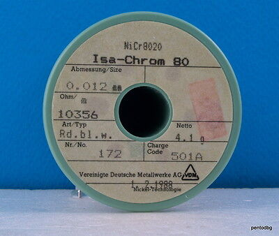 60m 200ft NICHROME 0.012mm Nikrothal 56AWG 8220 Ω//m Resistance WIRE 0,012